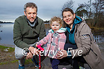 Enjoying a stroll near Ross Castle in Killarney on Saturday, l to r: Kevin and Faye Casey and Mary Griffin
