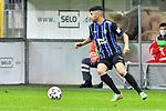 Waldhofs Hamza Saghiri (Nr.35) am Ball beim Spiel in der 3. Liga, SV Waldhof Mannheim - Türgücü München.<br /> <br /> Foto © PIX-Sportfotos *** Foto ist honorarpflichtig! *** Auf Anfrage in hoeherer Qualitaet/Aufloesung. Belegexemplar erbeten. Veroeffentlichung ausschliesslich fuer journalistisch-publizistische Zwecke. For editorial use only. DFL regulations prohibit any use of photographs as image sequences and/or quasi-video.