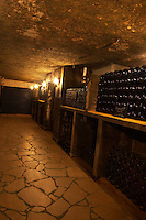 A corner in the cellar where older vintages are stored.  Chateau de Beaucastel, Domaines Perrin, Courthézon Courthezon Vaucluse France Europe