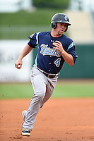 Corpus Christi Hooks second baseman Nolan Fontana (4) runs the bases during a game against the NW Arkansas Naturals on May 26, 2014 at Arvest Ballpark in Springdale, Arkansas.  NW Arkansas defeated Corpus Christi 5-3.  (Mike Janes/Four Seam Images)