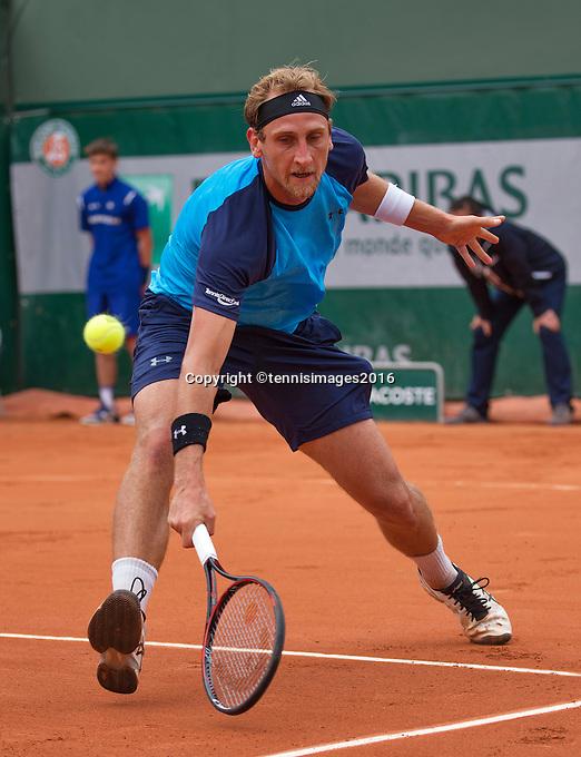 Paris, France, 24 June, 2016, Tennis, Roland Garros,  Thiemo de Bakker (NED) <br /> Photo: Henk Koster/tennisimages.com