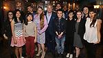 Sherri Eden Barber, Gabriel Stelian-Shanks, Bonnie Comley and Stewart F. Lane with directing fellows attend the Drama League's directing fellows dinner at the Bond 45 on May 16, 2018 in New York City.