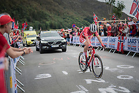 Mads Pedersen (DEN/Trek-Segafredo) up Salmon Hill<br /> <br /> Men Elite Road Race<br /> <br /> UCI 2017 Road World Championships - Bergen/Norway