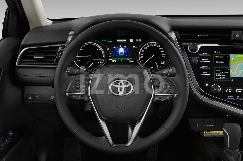 Car pictures of steering wheel view of a 2019 Toyota Camry Premium 4 Door Sedan
