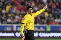 Harrison, NJ - Thursday March 01, 2018: Ricardo Montero Araya. The New York Red Bulls defeated C.D. Olimpia 2-0 (3-1 on aggregate) during a 2018 CONCACAF Champions League Round of 16 match at Red Bull Arena.