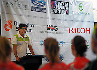 Jorge Sandoval addresses the Trust House Women's Cycle Tour Of New Zealand launch at Copthorne Hotel in Masterton, New Zealand on Wednesday, 18 February 2015. Photo: Dave Lintott / lintottphoto.co.nz