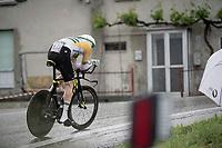 Australian TT Champion Luke Durbridge (AUS/Mitchelton-Scott) climbing in the rain<br /> <br /> Stage 9 (ITT): Riccione to San Marino (34.7km)<br /> 102nd Giro d'Italia 2019<br /> <br /> ©kramon