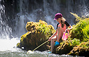 01/07/18<br /> <br /> Freya Kirkpatrick, 10, finds a tranquil spot to escape the heat at Monsal Weir near Bakewell in the Derbyshire Peak District.<br /> <br /> All Rights Reserved F Stop Press Ltd. +44 (0)1335 344240 +44 (0)7765 242650  www.fstoppress.com