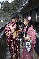 Kiyomizudera Temple in Kyoto, Japan. February, 2013