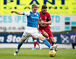 St Johnstone v Aberdeen…01.07.17  McDiarmid Park     Pre-Season Friendly <br />David Wotherspoon and Graeme Shinnie<br />Picture by Graeme Hart.<br />Copyright Perthshire Picture Agency<br />Tel: 01738 623350  Mobile: 07990 594431