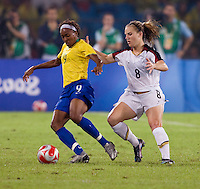 Amy Rodriguez, Ester. The USWNT defeated Brazil, 1-0, to win the gold medal during the 2008 Beijing Olympics at Workers' Stadium in Beijing, China.