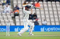 Kane Williamson, New Zealand drives through the covers during India vs New Zealand, ICC World Test Championship Final Cricket at The Hampshire Bowl on 22nd June 2021