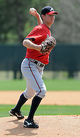 14 March 2009: Jonny Venters of the Atlanta Braves at Spring Training camp at Disney's Wide World of Sports in Lake Buena Vista, Fla. Photo by:  Tom Priddy/Four Seam Images