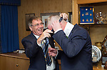 St Johnstone v Dundee United....17.05.14   William Hill Scottish Cup Final<br /> Geoff Brown sorts out the tie of Director Stan Harris<br /> Picture by Graeme Hart.<br /> Copyright Perthshire Picture Agency<br /> Tel: 01738 623350  Mobile: 07990 594431