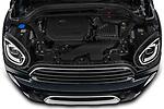 Car Stock 2021 MINI Countryman Cooper-Northwood 5 Door SUV Engine  high angle detail view
