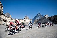 Toms Skujins (LVA/Trek-Segafredo) passing the Musée du Louvre / Louvre Museum<br /> <br /> Stage 21 (Final) from Chatou to Paris - Champs-Élysées (108km)<br /> 108th Tour de France 2021 (2.UWT)<br /> <br /> ©kramon