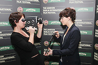 25/1/2011. Jameson Dublin International Film Festival Actors Maura Tierney (ER, Liar Liar) and Charlene McKenna (Raw, Dorothy Mills} are pictured at the Merrion hotel for the launch of the launch 9th Jameson Dublin International Film Festival Programme. The full programme will be available on the website www.jdiff.com from midnight on 25th Jan, with tickets going on sale online and through the ticketing office on 01 687 7974. The festival also has a new free iPhone and Android app to download for a full list of festival events.The Jameson Dublin International Film Festival, Ireland's premiere film event, takes place from the 17th-27th February 2011. For these 11 days Picture James Horan/Collins