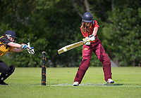 Action from the Joy Lamason One Day Wellington premier women's division one cricket match between Upper Hutt United and Wellington Collegians at Heretaunga Park in Upper Hutt, New Zealand on Saturday, 14 November 2020. Photo: Dave Lintott / lintottphoto.co.nz