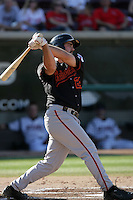Tommy Mendonca of the Bakersfield Blaze during game against the Lake Elsinore Storm at The Diamond in Lake Elsinore,California on July 25, 2010. Photo by Larry Goren/Four Seam Images