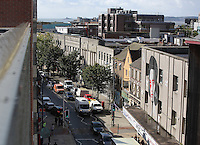 WORDS BY KARL WEST<br /> Pictured: The High Street as seen from the roof of Coastal  Friday 30 September 2016<br /> Re: The regeneration of the High Street in Swansea, Wales, UK