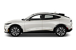 Car Driver side profile view of a 2021 Ford Mustang-Mach-E - 5 Door SUV Side View