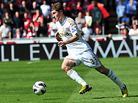 sport...swansea v southampton...liberty stadium...saturday 20th april 2013....<br /> <br /> <br /> Swansea's Ben Davies on the ball