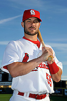 Mar 01, 2010; Jupiter, FL, USA; St. Louis Cardinals infielder Skip Schumaker (55) during  photoday at Roger Dean Stadium. Mandatory Credit: Tomasso De Rosa/ Four Seam Images