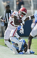 Arkansas running back Trelon Smith (22) carries the ball, Saturday, October 9, 2021 during the second quarter of a football game at Vaught Hemingway Stadium in Oxford, Miss. Check out nwaonline.com/211010Daily/ for today's photo gallery. <br /> (NWA Democrat-Gazette/Charlie Kaijo)