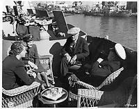 he U.S. President Franklin D. Roosevelt and British Prime Minister Winston Churchill with their daughters Anna Boettiger and Sarah Churchill aboard the heavy cruiser USS Quincy (CA-71) at Malta before the Yalta Conference, 2 February 1945.