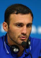 Vasileios Torosidis of Greece during a press conference ahead of tomorrow's fixture vs Costa Rica