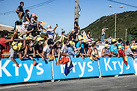 Fans allow at the finish area<br /> <br /> Stage 5 from Gap to Privas 183km<br /> 107th Tour de France 2020 (2.UWT)<br /> (the 'postponed edition' held in september)<br /> ©kramon