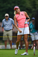 16th July 2021, Midland, MI, USA;  Lexi Thompson (USA) watches her tee shot on 3 during the Dow Great Lakes Bay Invitational Rd3 at Midland Country Club on July 16, 2021 in Midland, Michigan.