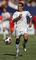 July 24, 2005: East Rutherford, NJ, USA:  USMNT midfielder Landon Donovan (10) runs forward with the ball during the CONCACAF Gold Cup Finals at Giants Stadium.  The USMNT won 3-1 on penalty kicks.