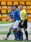 St Johnstone v Inverness Caledonian Thistle...05.10.13      SPFL<br /> Steven MacLean celebrates his third goal<br /> Picture by Graeme Hart.<br /> Copyright Perthshire Picture Agency<br /> Tel: 01738 623350  Mobile: 07990 594431