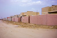 Kuwait October 1966.  Low-cost Housing for Settlement of Bedouin Families.
