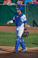 Tim Susnara (6) of the Ogden Raptors during the game against the Grand Junction Rockies at Lindquist Field on June 5, 2021 in Ogden, Utah. The Raptors defeated the Rockies 18-1. (Stephen Smith/Four Seam Images)