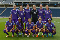 Bridgeview, IL - Saturday July 22, 2017: Orlando Pride Starting XI during a regular season National Women's Soccer League (NWSL) match between the Chicago Red Stars and the Orlando Pride at Toyota Park. The Red Stars won 2-1.