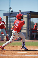 Philadelphia Phillies James Smith (22) during a Minor League Spring Training game against the New York Yankees on March 23, 2019 at the New York Yankees Minor League Complex in Tampa, Florida.  (Mike Janes/Four Seam Images)