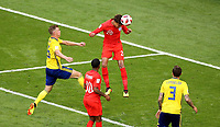 SAMARA - RUSIA, 07-07-2018: Dele ALLI (#20) jugador de Inglaterra dispara para anotar un gol a Suecia durante partido de cuartos de final por la Copa Mundial de la FIFA Rusia 2018 jugado en el estadio Samara Arena en Samara, Rusia. / Dele ALLI (#20) player of England shoots to score a goal to Sweden during match of quarter final for the FIFA World Cup Russia 2018 played at Samara Arena stadium in Samara, Russia. Photo: VizzorImage / Julian Medina / Cont