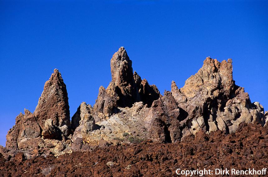 Spanien, Kanarische Inseln, Teneriffa, Teide-Park, beim Mirador de Los Roques, Unesco-Weltkulturerbe