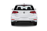 Straight rear view of a 2019 Volkswagen Golf S 5 Door Hatchback stock images
