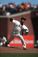 SAN FRANCISCO, CA - JULY 31:  Santiago Casilla #46 of the San Francisco Giants pitches against the Washington Nationals during the game at AT&T Park on Sunday, July 31, 2016 in San Francisco, California. Photo by Brad Mangin
