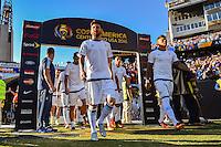Foxborough, MA - Saturday June 18, 2016: Lionel Messi, Argentina  prior to a Copa America Centenario quarterfinal match between Argentina (ARG) and Venezuela (VEN)  at Gillette Stadium.