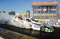 Feb. 17 2012; Chandler, AZ, USA; NHRA funny car driver Mike Neff during qualifying for the Arizona Nationals at Firebird International Raceway. Mandatory Credit: Mark J. Rebilas-