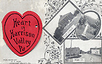 Postcard with views of Harrison Valley, PA taken by Harry T. Rice.