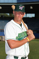 Jamestown Jammers Logan Morrison poses for a photo before a NY-Penn League game at Russell Diethrick Park on August 11, 2006 in Jamestown, New York.  (Mike Janes/Four Seam Images)
