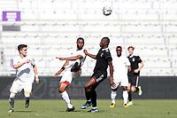 Orlando, Florida - Monday January 15, 2018: Andre Morrison and Issaka Nyemewero. Match Day 2 of the 2018 adidas MLS Player Combine was held Orlando City Stadium.
