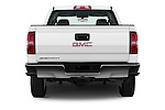 Straight rear view of 2018 GMC Sierra-2500HD 2WD-Double-Cab-Long-Box 4 Door Pick-up Rear View  stock images