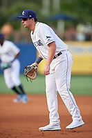 Charlotte Stone Crabs first baseman Russ Olive (34) during a Florida State League game against the Fort Myers Miracle on April 6, 2019 at Charlotte Sports Park in Port Charlotte, Florida.  Fort Myers defeated Charlotte 7-4.  (Mike Janes/Four Seam Images)