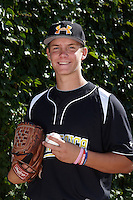 Pitcher Chris Kohler #32 of Los Osos High School in Alta Loma, California poses for a photo before participating in the Under Armour All-American Game powered by Baseball Factory at Wrigley Field on August 17, 2012 in Chicago, Illinois.  (Mike Janes/Four Seam Images)